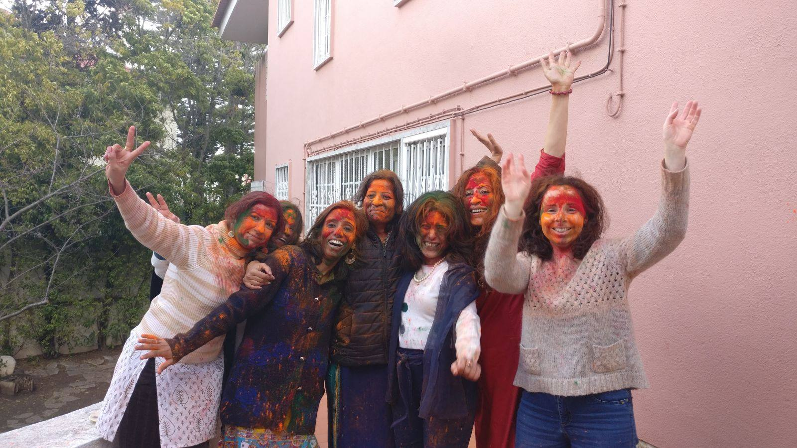 Holi celebrations at the Indian Embassy in Lisbon. Photo courtesy: MEA
