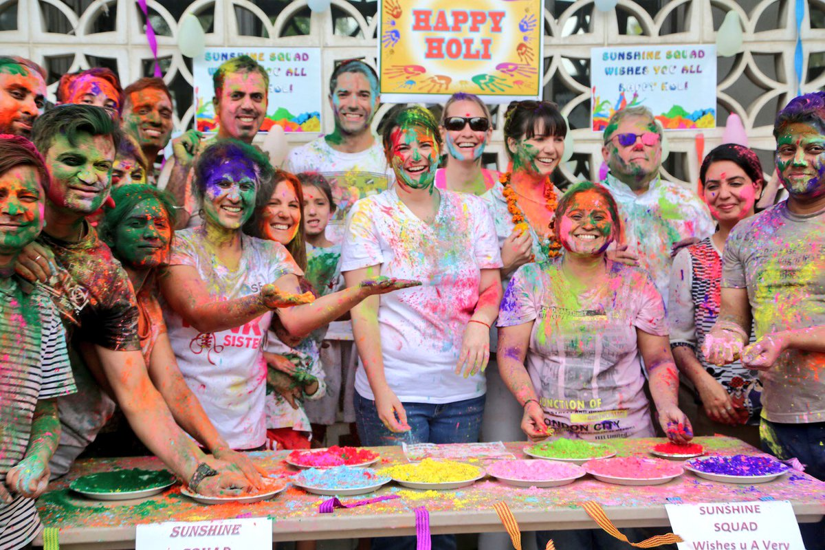 Holi celebrations at the US Embassy in New Delhi. Photo courtesy: MEA