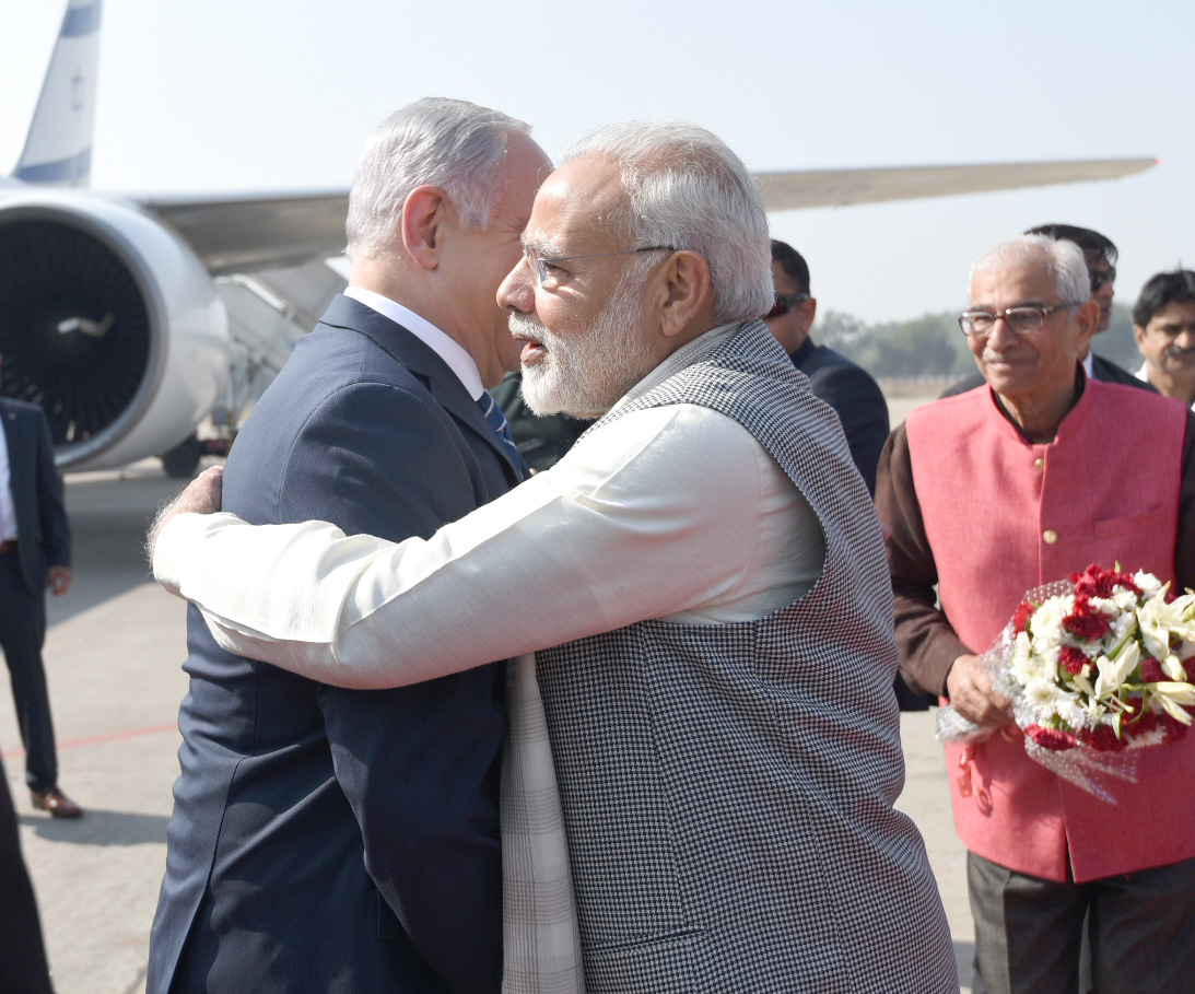 Israeli Prime Minister Benjamin Netanyahu and Indian Prime Minister Narendra Modi signed protocol between India and Israel on Amendments to the Air Transport Agreement that envisages entering into cooperative marketing arrangements, such as code share, bloc space or any other JV agreement for the purpose of operating the agreed services on the specified routes. Photo courtsey: Prime Minister's Office
