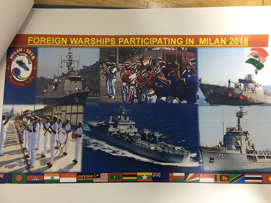 Arrival of foreign warships in PortBlair marks beginning of 10th edition of Milan 2018. Photo courtsey: All India Radio