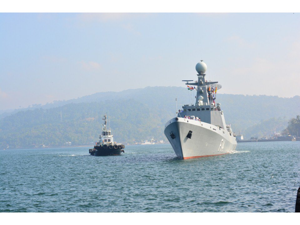Arrival of foreign warships in PortBlair marks beginning of 10th edition of Milan 2018.