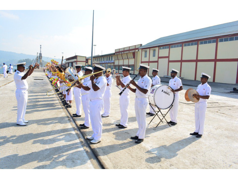 Arrival of foreign warships in PortBlair marks beginning of 10th edition of Milan 2018. Photo courtesy: Indian Ministry of Defence
