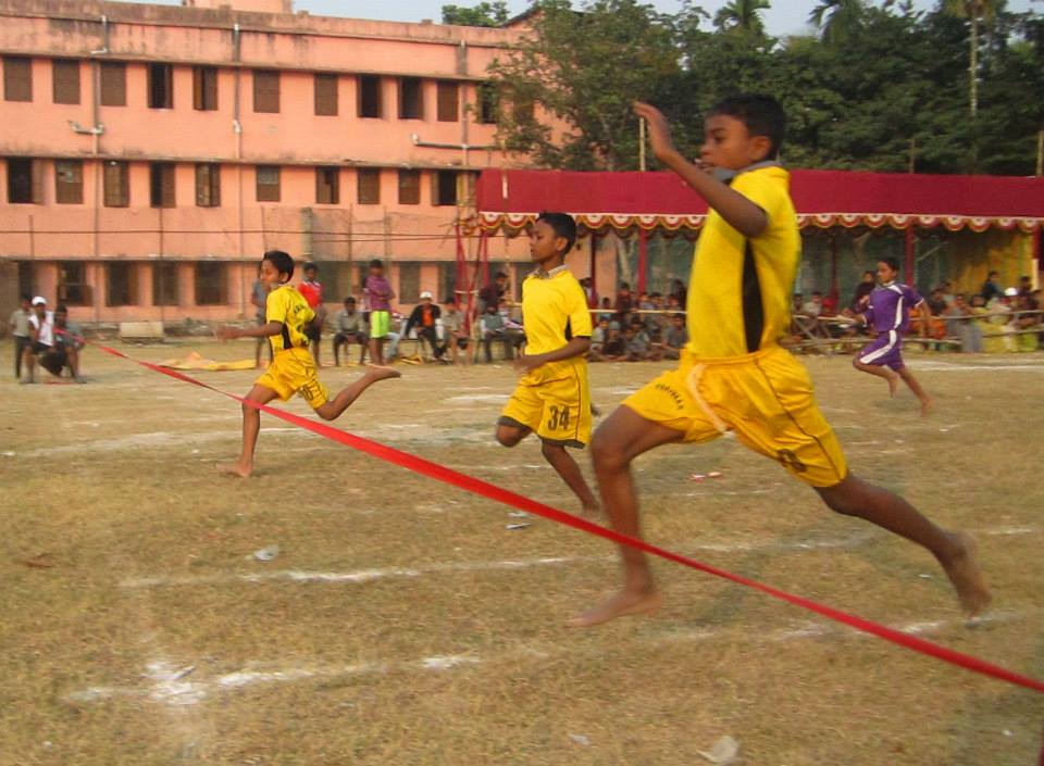 Children participating in the annual Athletic Meet at Parivaar.