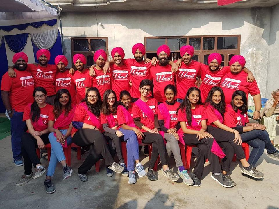 Volunteers of Young Sikh Association, Singapore who particpated in the transformation of a village school in Punjab.