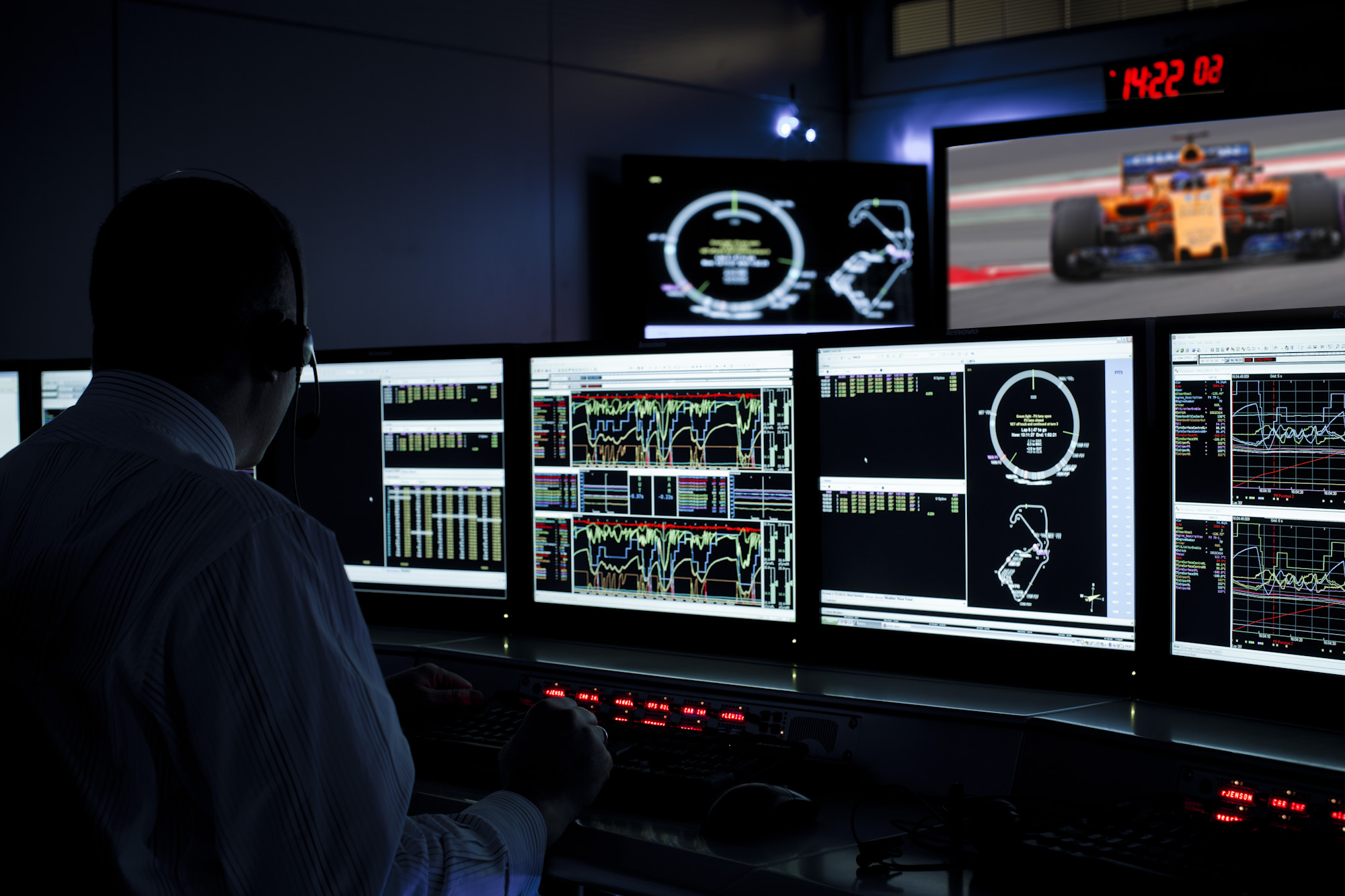 McLaren condition monitoring suite for F1 race cars' is shown in the picture.