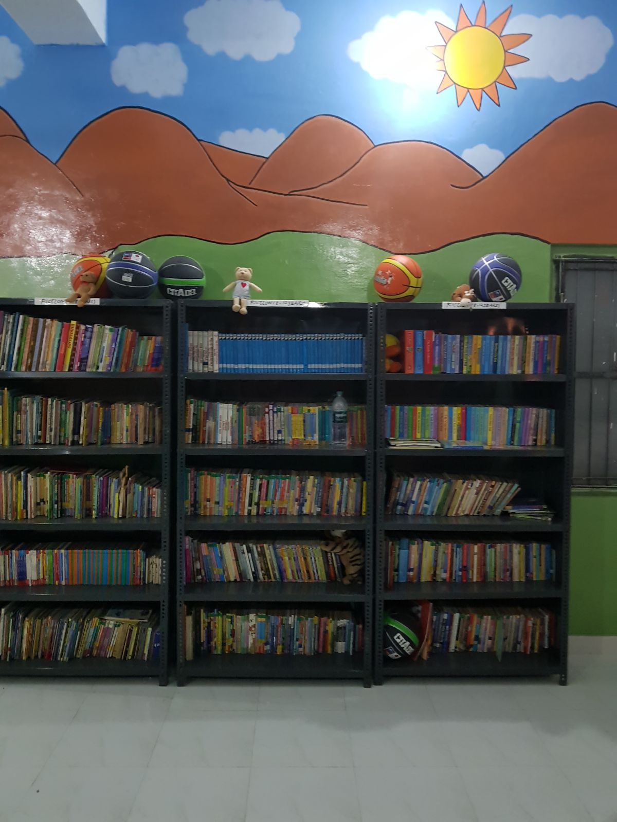The volunteers of YSA developed a full-fledged library in the school and stocked it with various books.