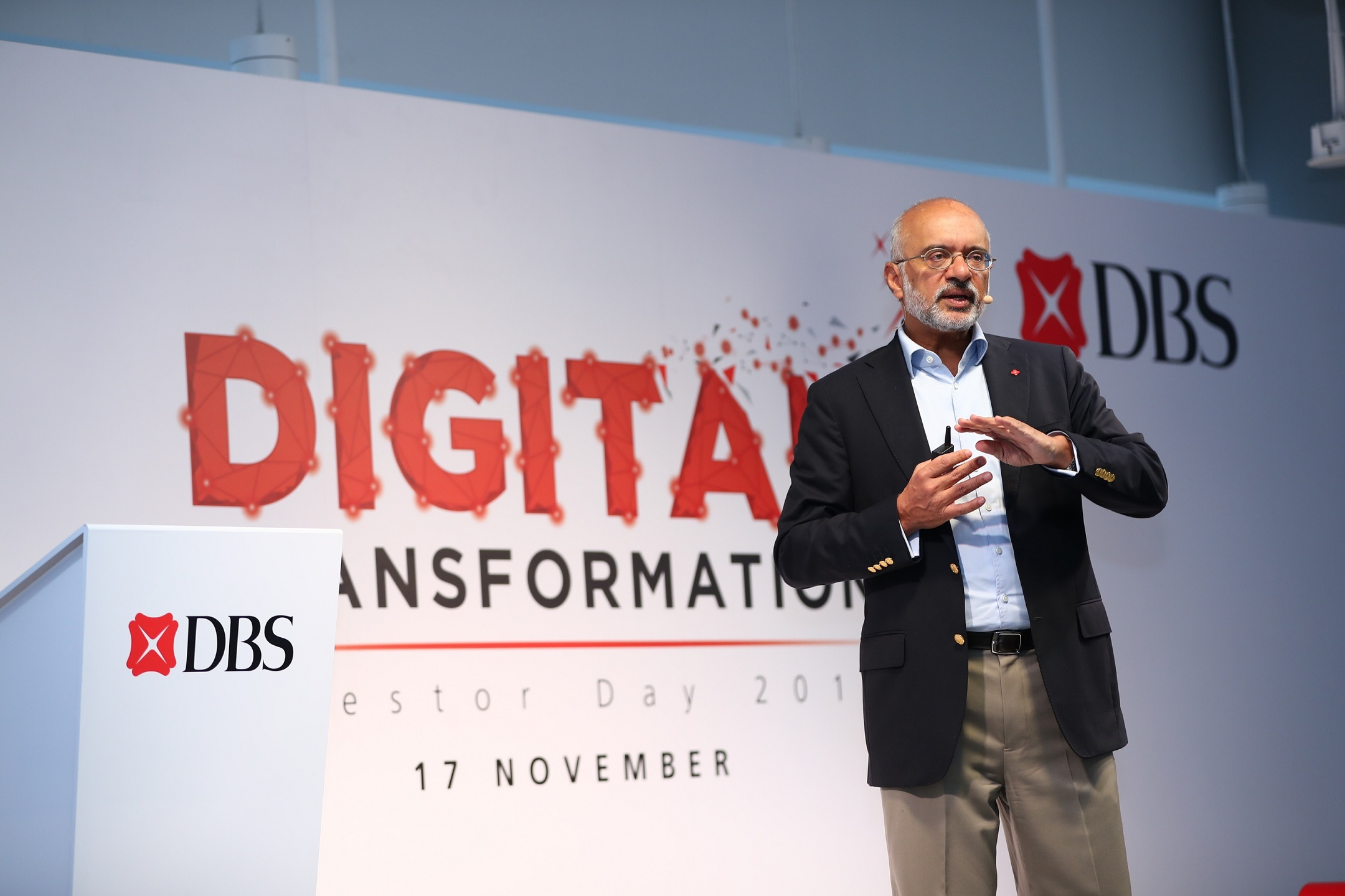 Piyush Gupta, Chief Executive Officer and Director of DBS Group.