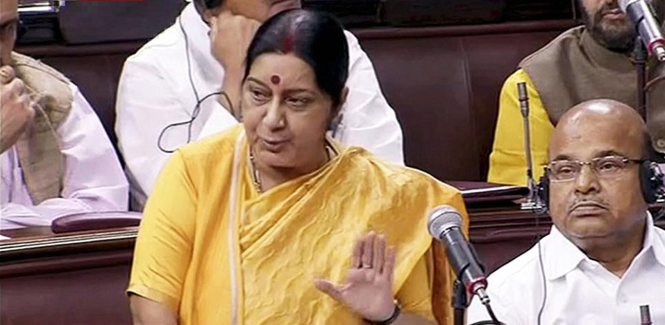 Sushma Swaraj, Indian External Affairs Minister.
