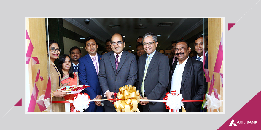Vipul, consul general of India in Dubai, inaugurating the new representative office of Axis Bank in Sharjah.