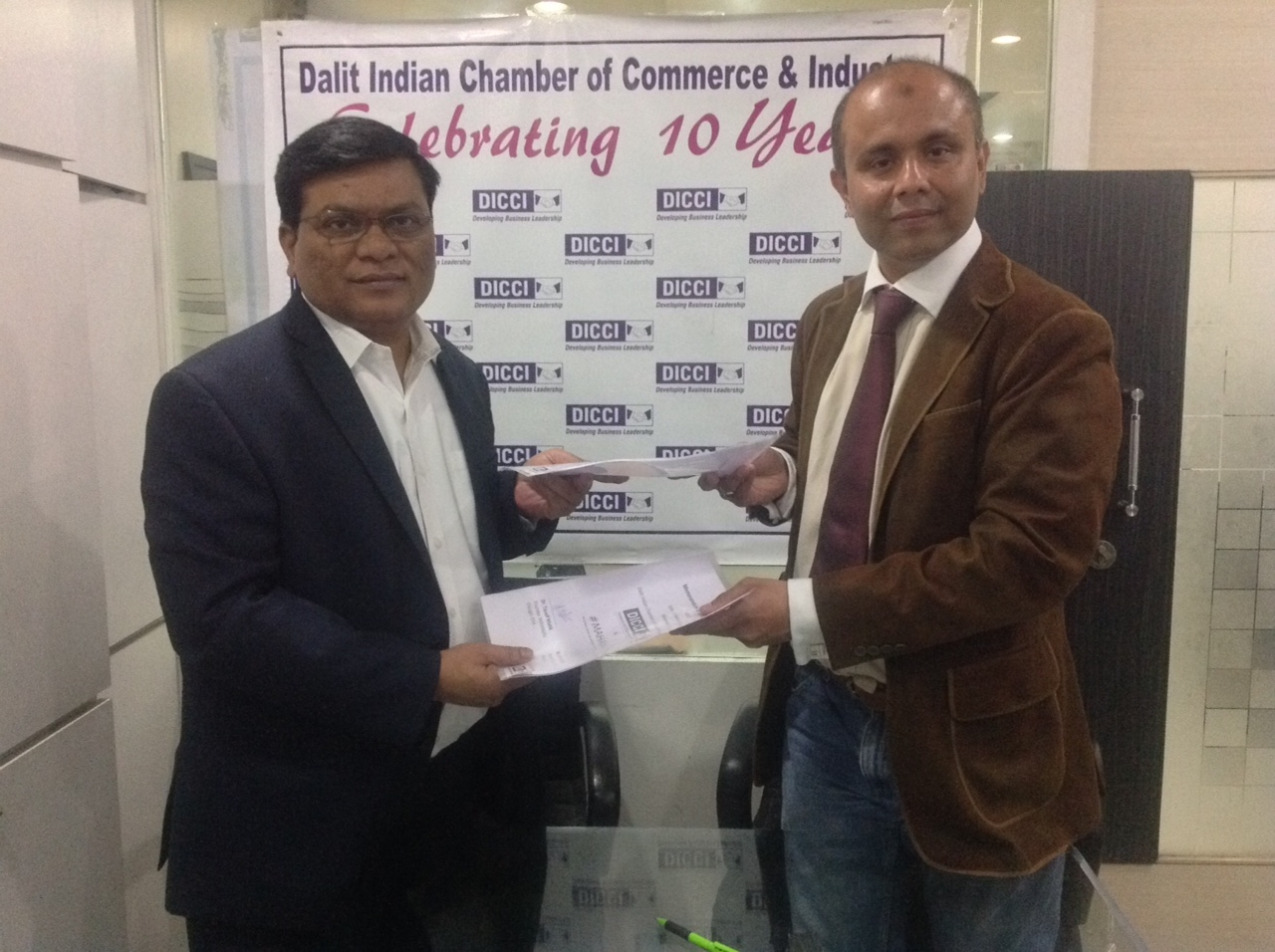 Milind Kamble, Founder & Chairman, DICCI (left) with Dr Tausif Malik.
