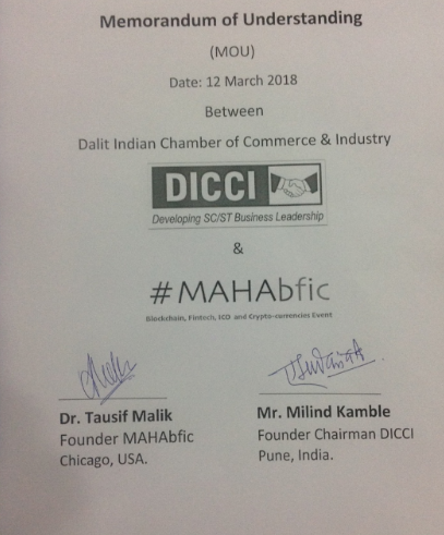 The MoU signed with DICCI and MAHAbfic.