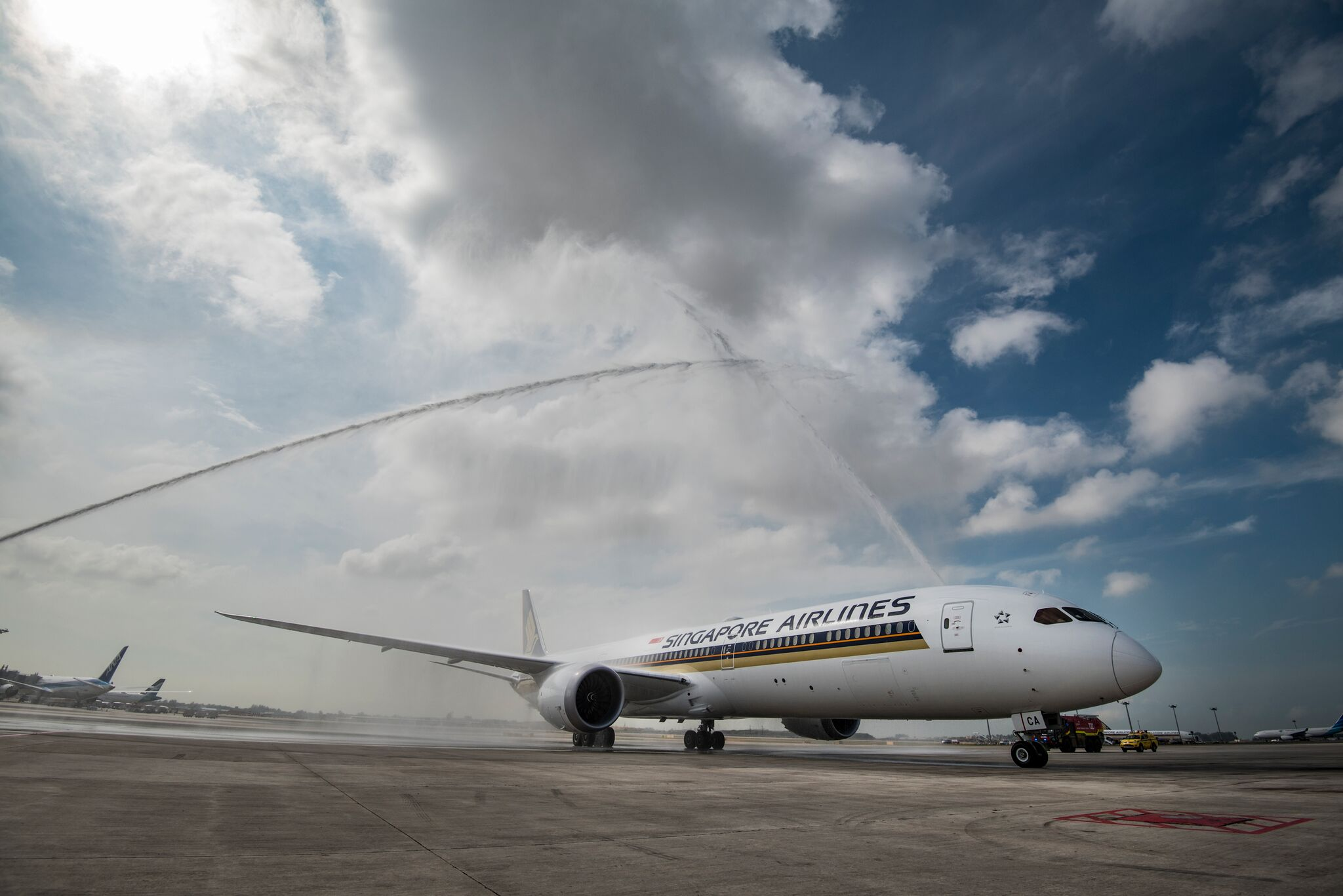 Water cannon salute. Photo courtesy: SIA
