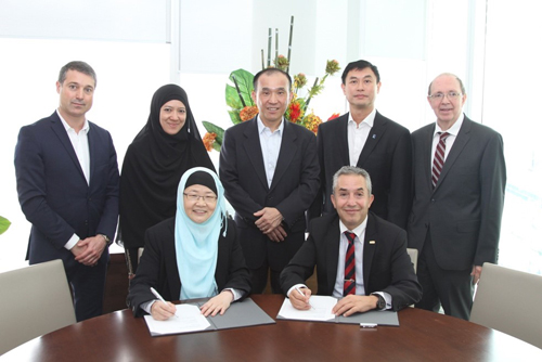 At the signing of the Memorandum of Understanding in Singapore. Photo courtesy: NanoBio Lab, A*STAR