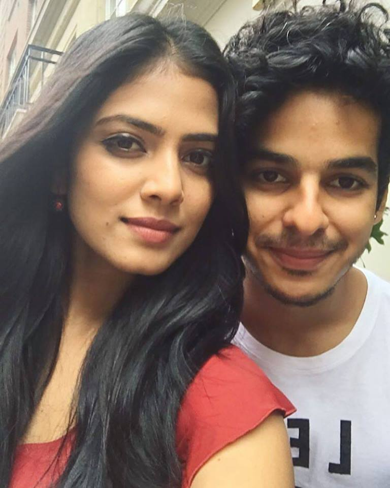 Ishaan Khatter with co-star Malavika Mohanan.