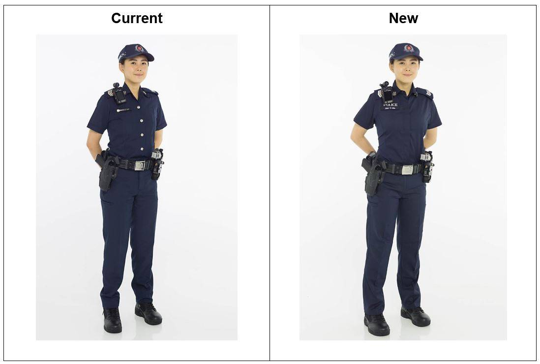 Singapore Police officers will don a new uniform from April 16 to help them keep cool and comfortable.