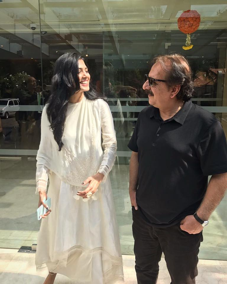 Malavika Mohanan with director Majid Majidi.