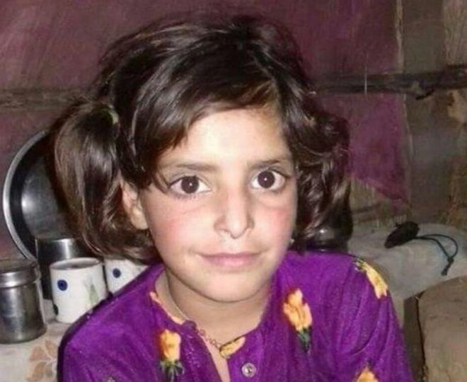 A file photo of 8-year-old Asifa who was gang-raped and murdered in Kathua.