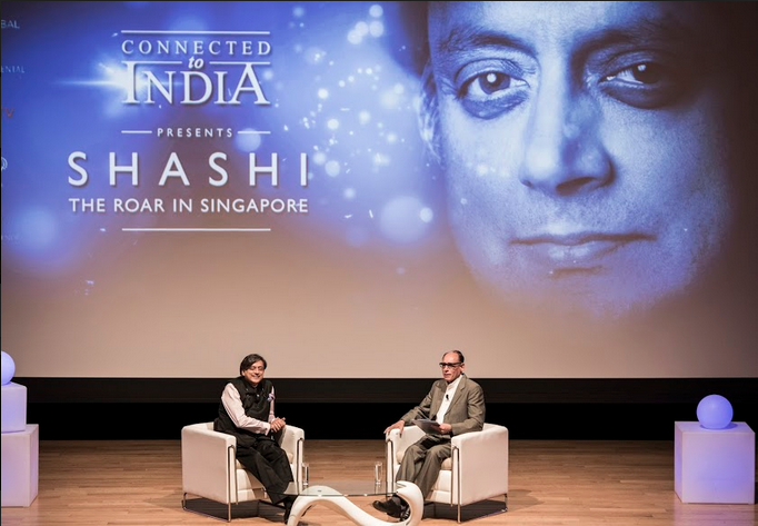 Vikram Khanna, Associate Editor, The Straits Times quizzed Dr Shashi Tharoor on Indians abroad, politics and political career, colonistation, Singapore, Congress and its future, soft power, China and others. Photo: Connected to India