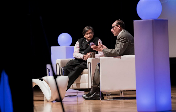 "Dr Tharoor on politicians upon his entering politics, ""There was resentment when I entered politics as politicians in India have been nothing but politicians all their whole life."" Photo: Connected to India"