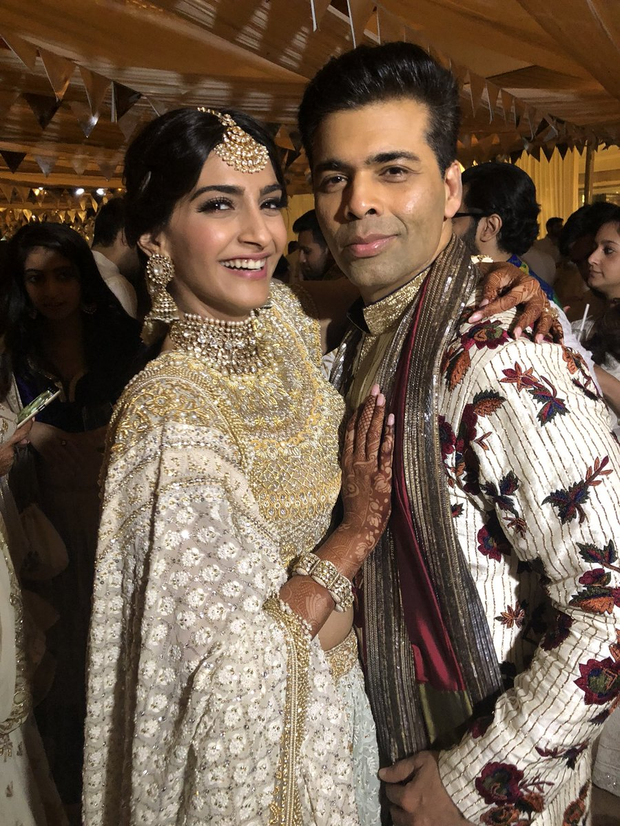 Karan Johar tweeted this picture with the gorgeous Sonam Kapoor.