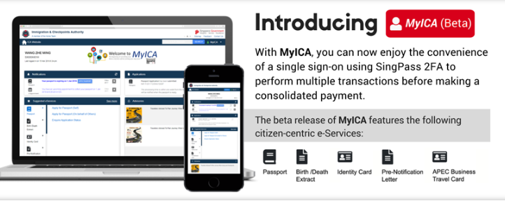 Immigration and Checkpoints Authority (ICA) rolled out MyICA in April which is currently in its beta testing stage.