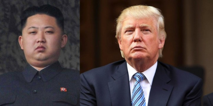 US President Donald Trump (left) and North Korea leader Kim Jong-Un