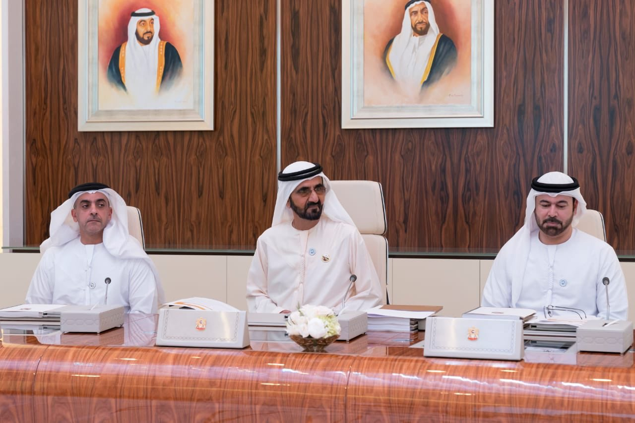 His Highness Sheikh Mohammed bin Rashid Al Maktoum, Vice President and Prime Minister of the UAE and Ruler of Dubai chairing the Cabinet meeting in UAE.