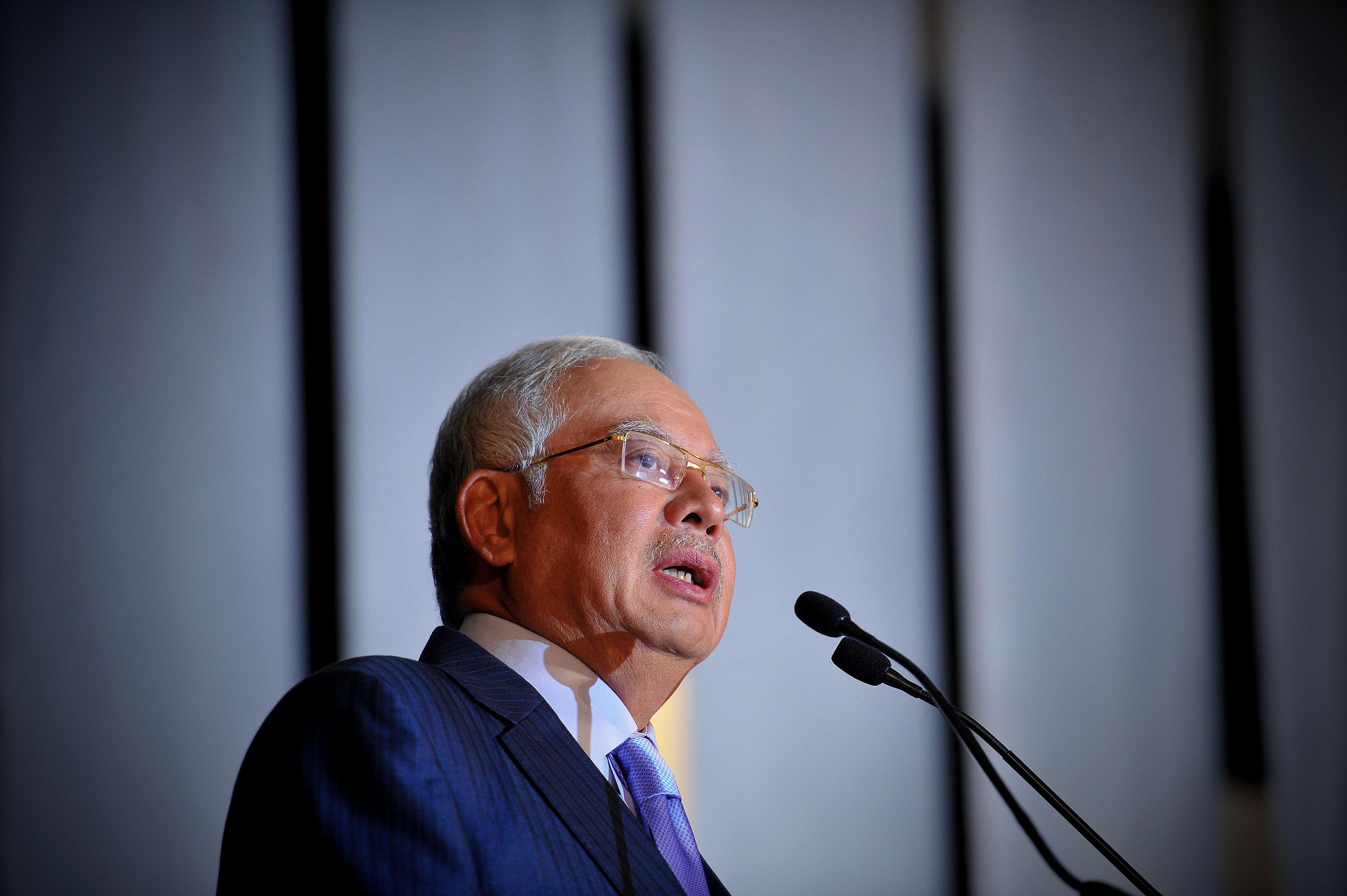 former Malaysian Prime Minister Datuk Seri Najib Razak