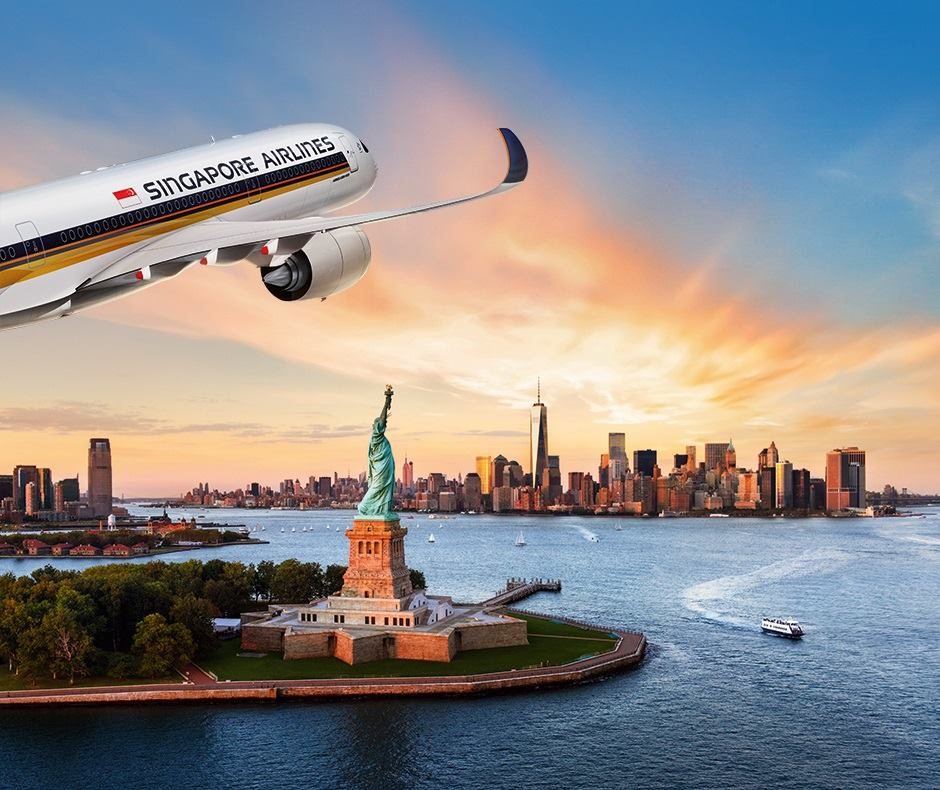 Singapore Airlines will launch the world's longest commercial flight on October 11 between Singapore and New York. Photo courtesy: Facebook page of SIA