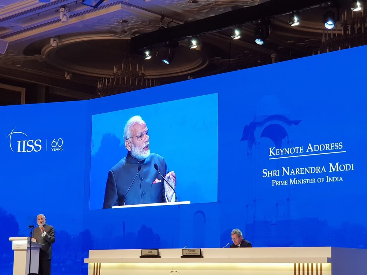 PM Modi asserted that India stands for a free, open, inclusive Indo-Pacific region.