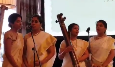 Beautiful rendition of 'Vaishnav Jan To Tene Kahiye', a favourite bhajan of Mahatma Gandhi being sung on the occasion of unveiling of plaque marking the site where Mahatma's ashes were immersed.