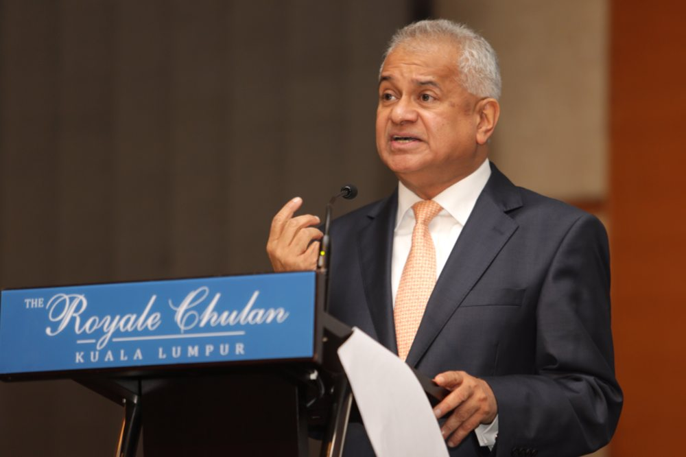 Malaysia's new Attorney General Tommy Thomas. Photo courtesy: Twitter page of Zurairi