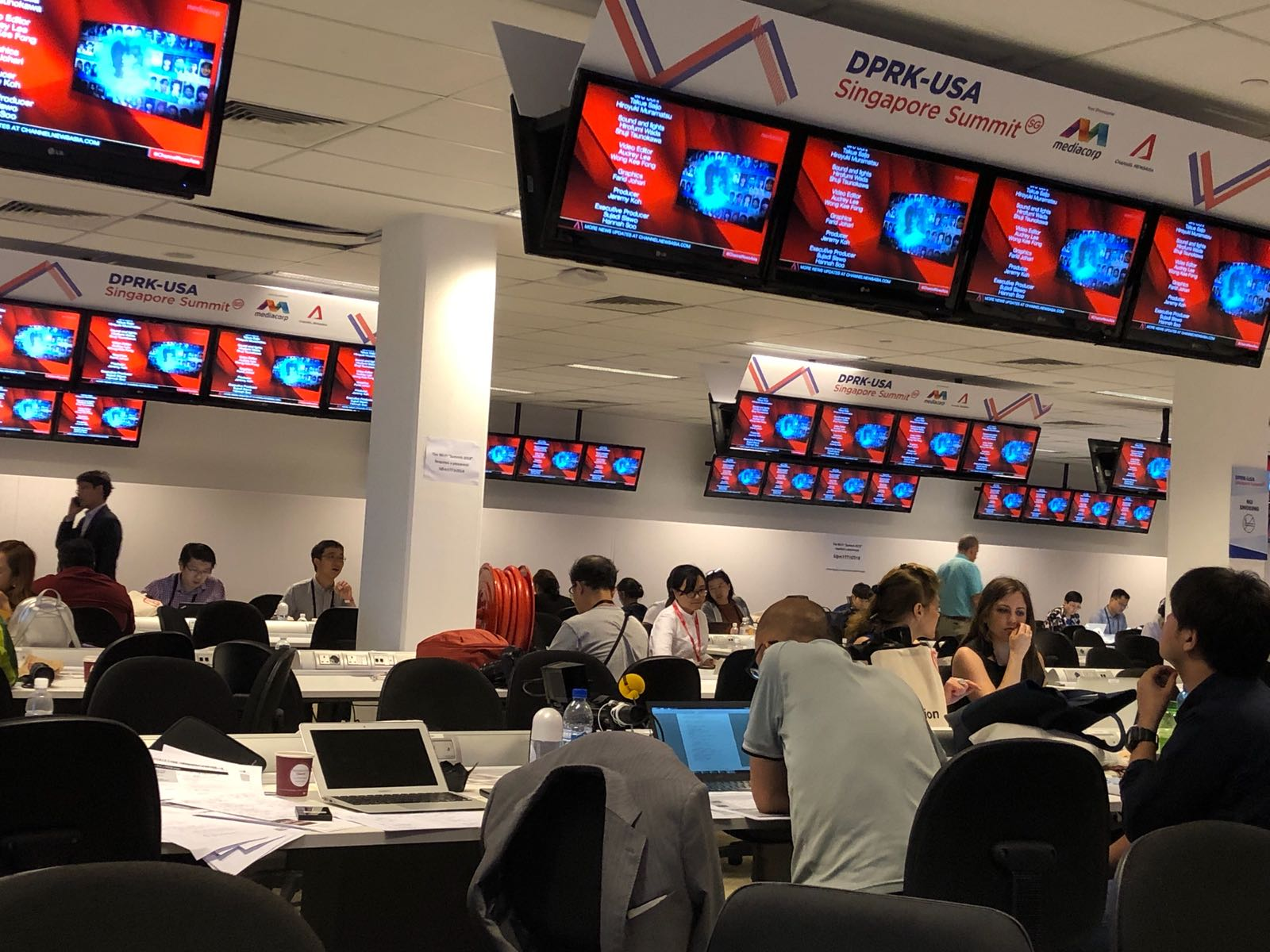 Over 2,500 journalists from all over the world have converged in Singapore to bring live updates on Trump-Kim summit meeting.