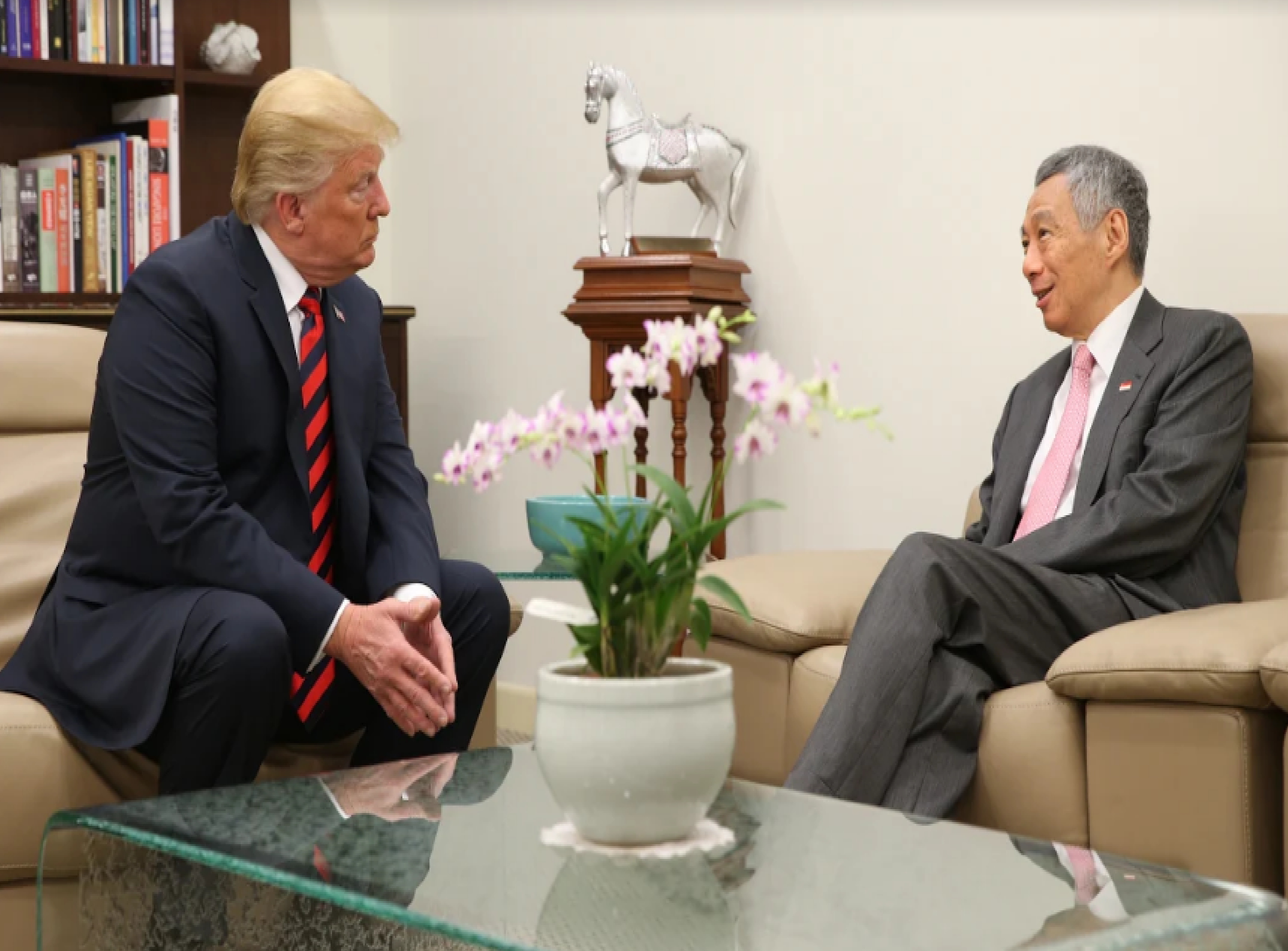 Both leaders reaffirmed the excellent relations between Singapore and the US across the economic, defence, and security spheres.