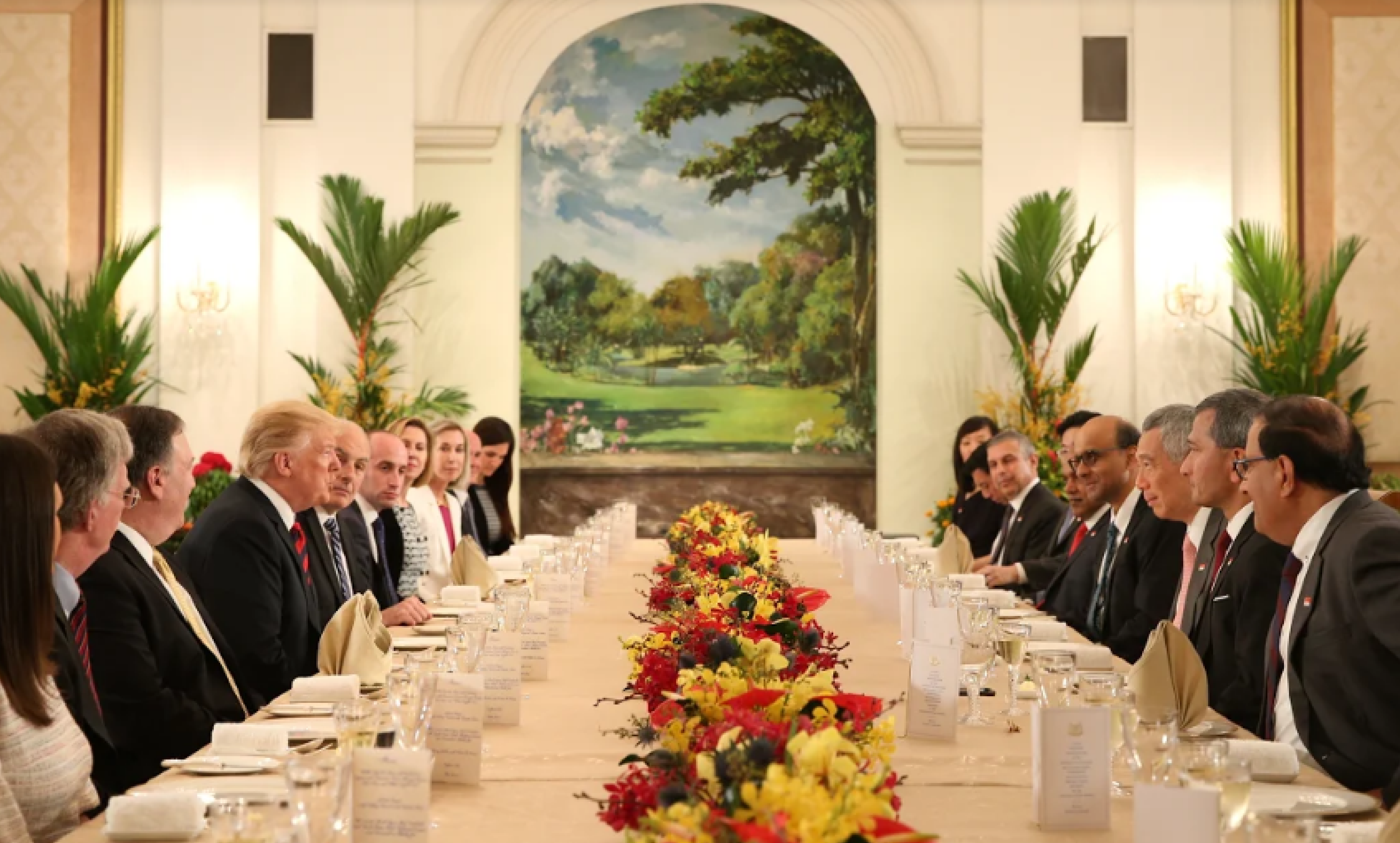 President Trump thanked Prime Minister Lee for Singapore's hosting of the US-Democratic People's Republic of Korea (DPRK) Summit.