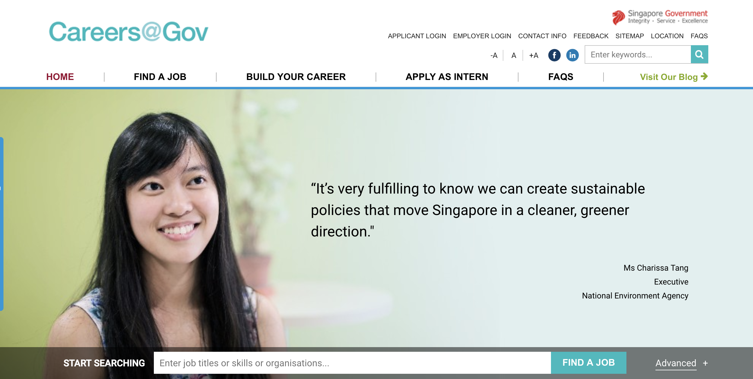 Photo: Screenshot of Career@Gov