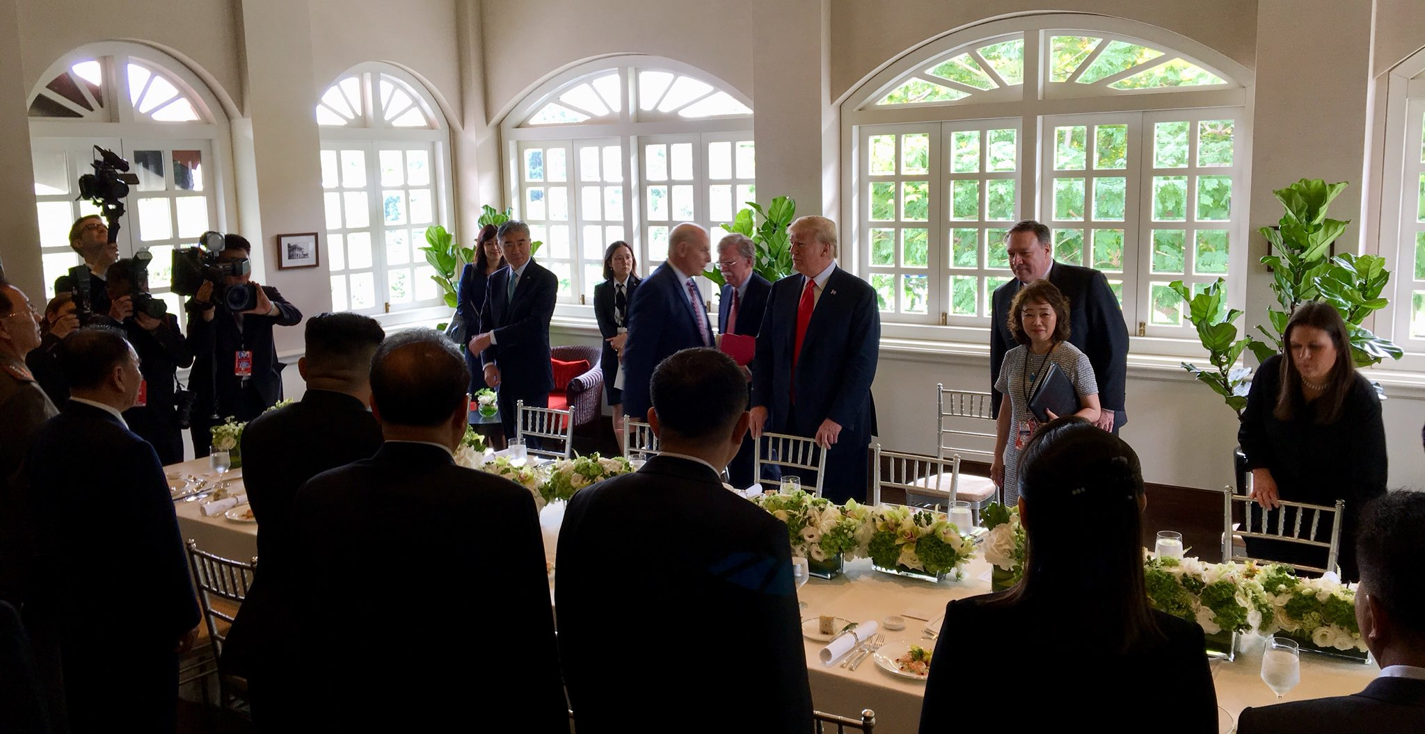 US President Donald Trump and North Korean leader Kim Jong Un prepare for working lunch at the Capella hotel in Sentosa.