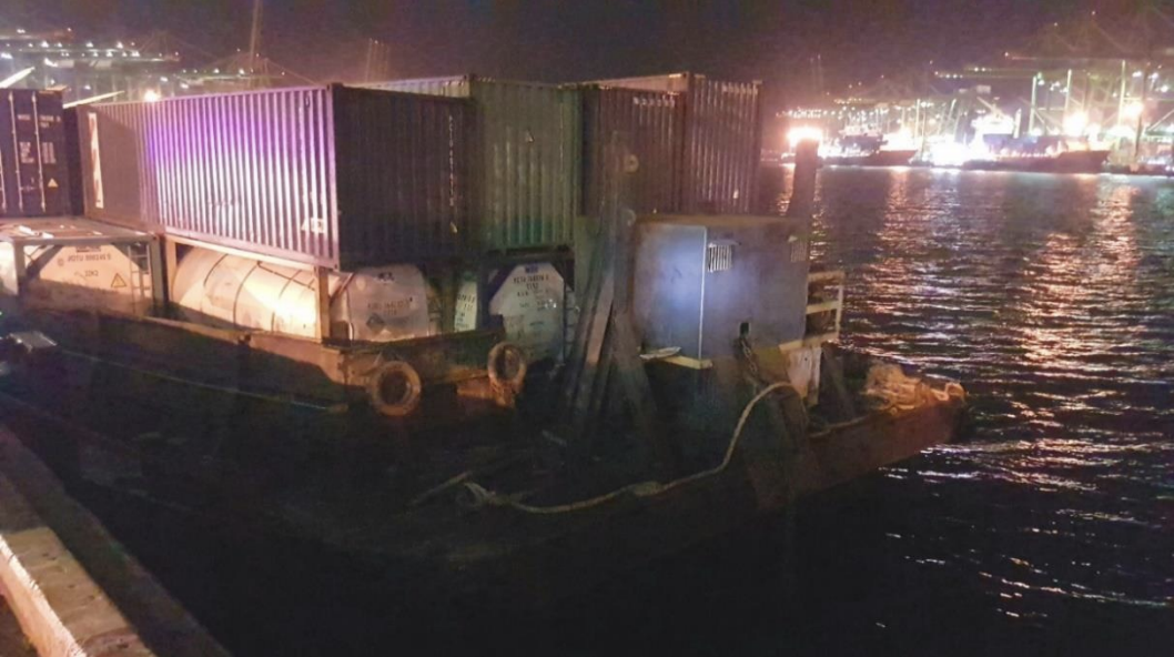 Barge used in the smuggling of duty-unpaid cigarettes. Photo courtesy: ICA