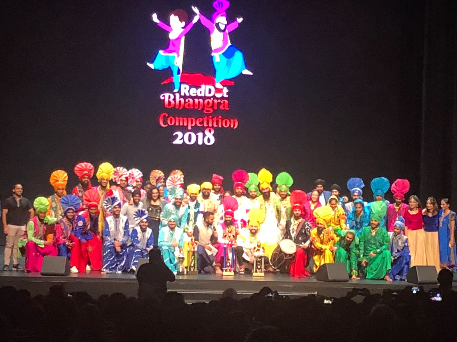 A glimpse of all the stars of the night at the RedDot Bhangra Competition! Photo courtesy: Facebook/@reddot