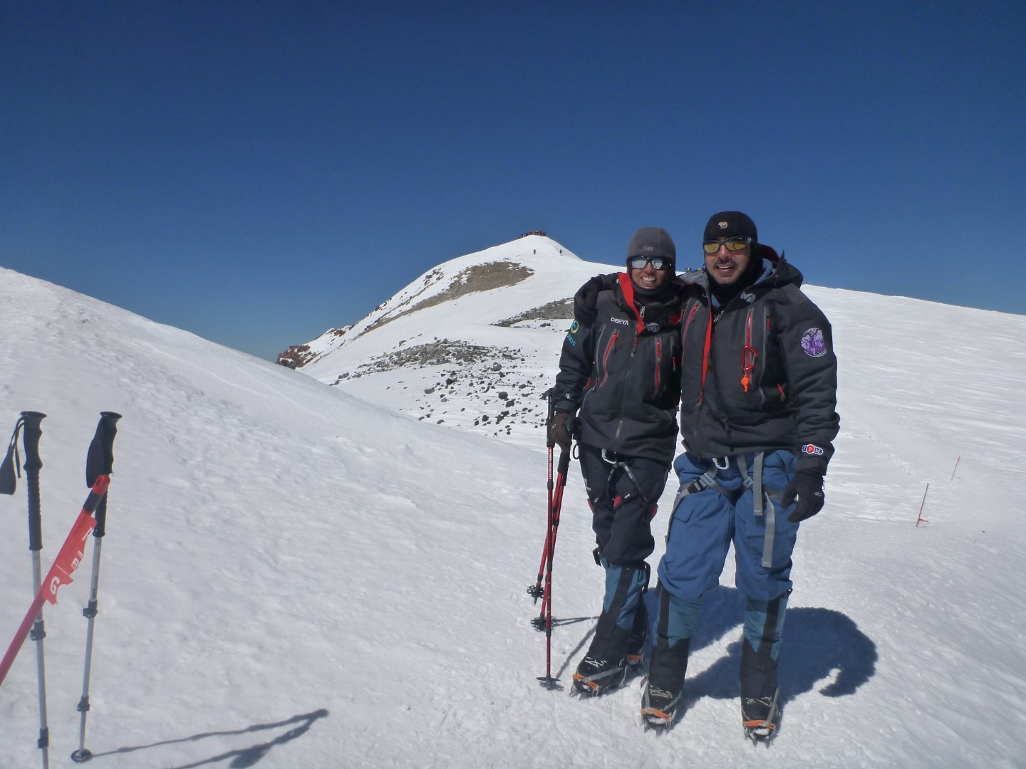 Ajeet and Deeya Bajaj at Mt Elbrus in Russia.