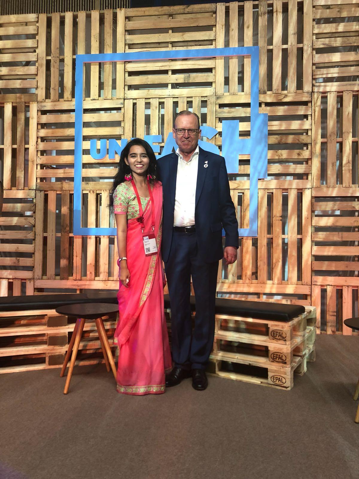 With Dr. Flemming Besenbacher , chairman of Carlsberg