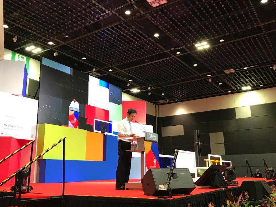 Ong Ye Kung, Education Minister of Singapore delivering his opening speech at WorldSkills Singapore competition. Photo courtesy: Facebook page of WorldSkills Singapore