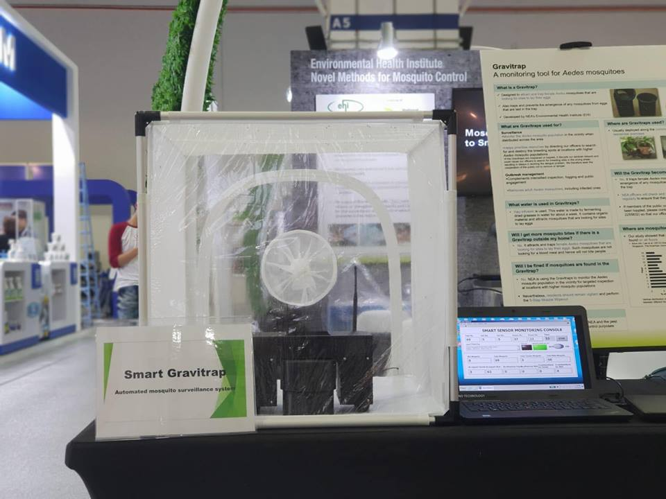 A prototype of the Smart Gravitrap was showcased at the ongoing CleanEnviro Summit in Singapore.
