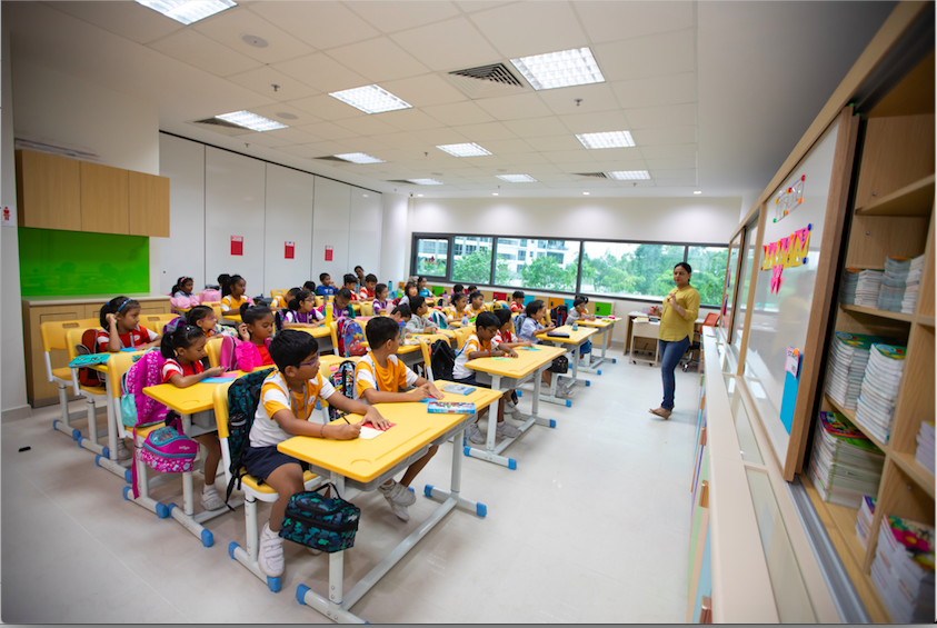 Within the classroom, there are two interactive and highly customised whiteboards that will allow digital collaboration between teachers and students