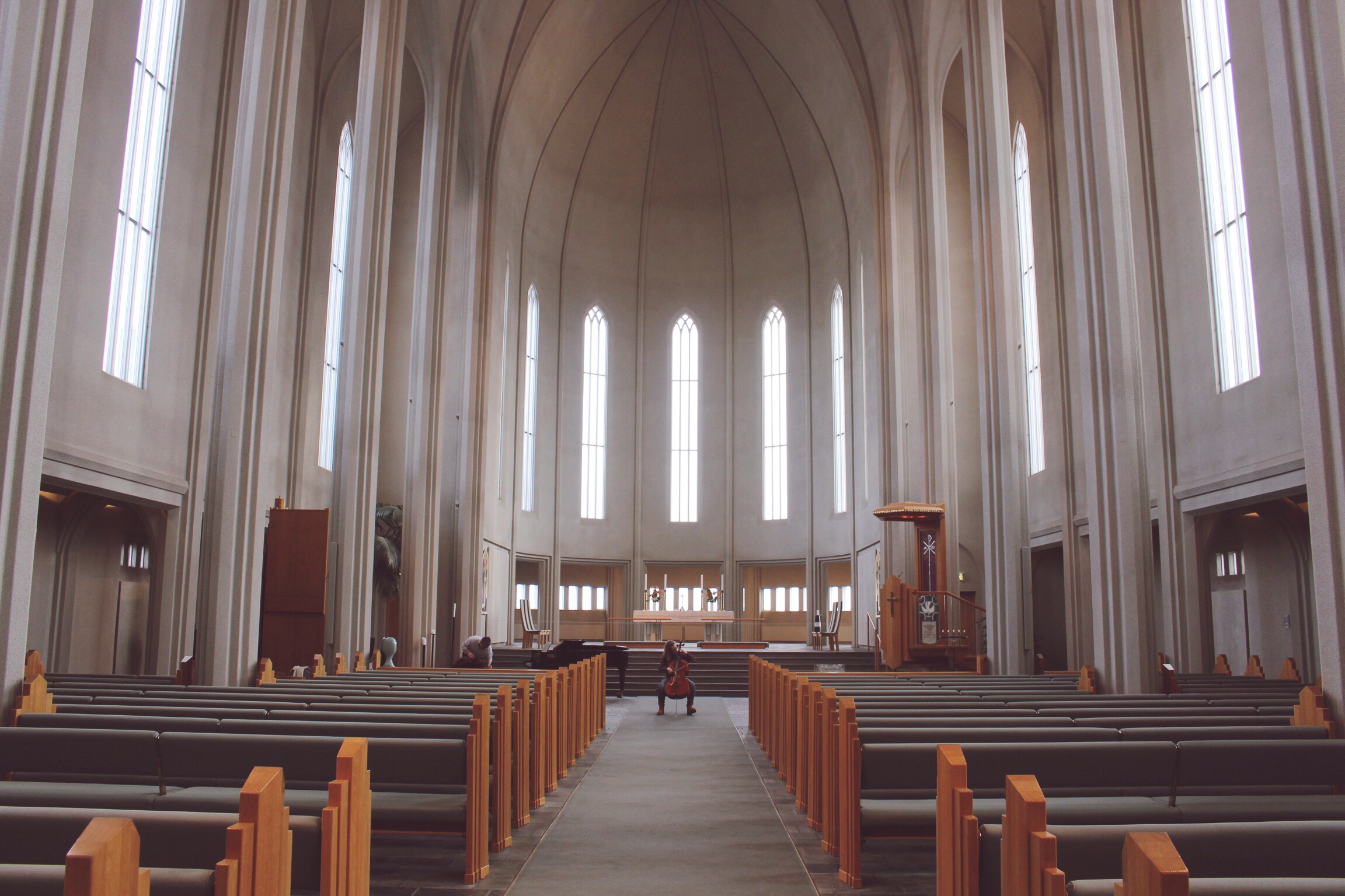 The peaceful interior of the church. Photo: Connected to India