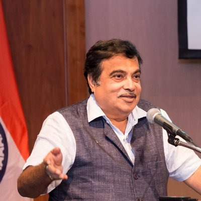 Nitin Gadkari, Indian Minister of Road Transport, Shipping and Water Resources. Photo courtesy: Twitter/@nitin_gadkari