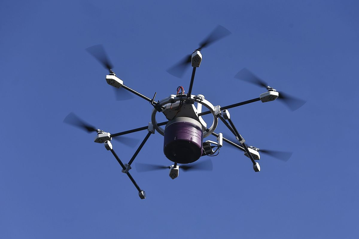Drones will be used for transporting blood samples, delivering emergency medical supplies and responding to security incidents in Singapore. Photo courtesy: Wikimedia