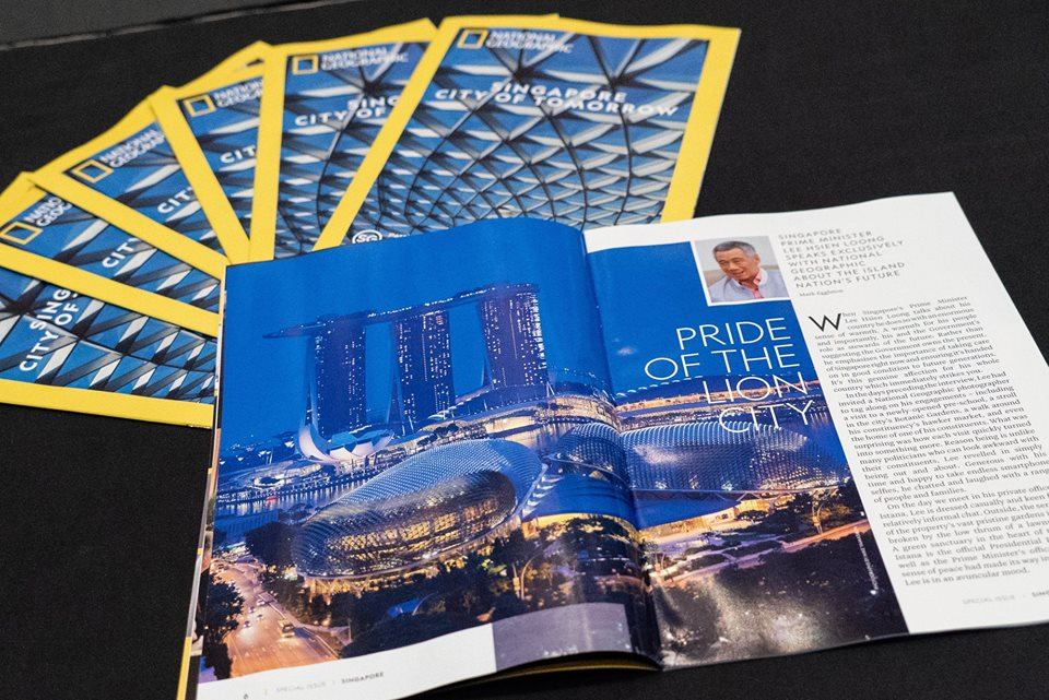 National Geographic has released a special Singapore edition which includes an exclusive interview with Prime Minister Lee Hsien Loong in commemoration of Singapore's 53rd National Day. Photo courtesy: Facebook page of PM Lee