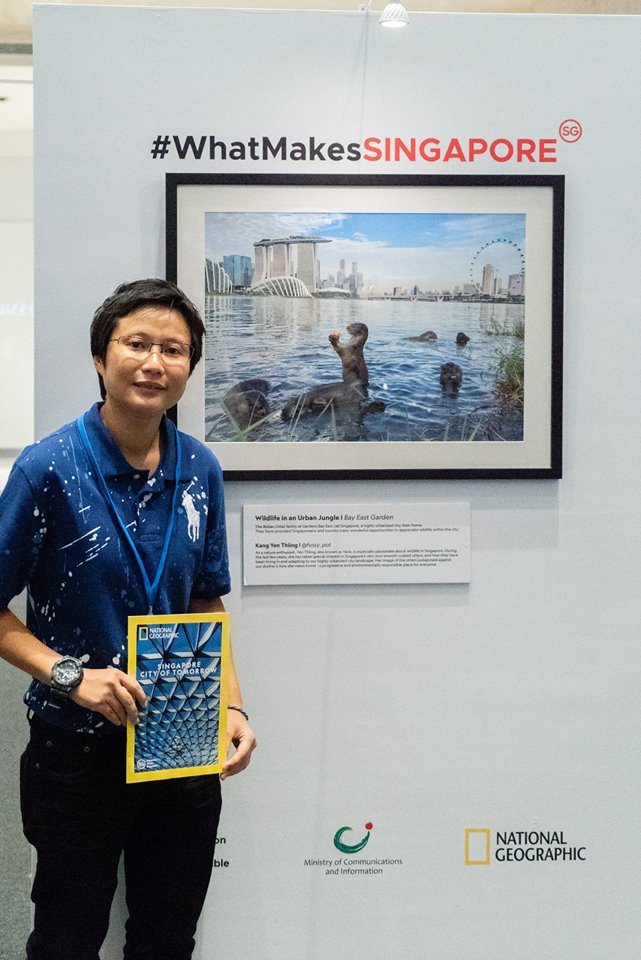 Kang Yen Thiing was grand prize winner of the photography contest. His winning photo reflects how Singapore's smooth-coated otters have been living in and adapting to the highly urbanised city landscape of Singapore. Photo courtesy: Facebook page of Singapore's government