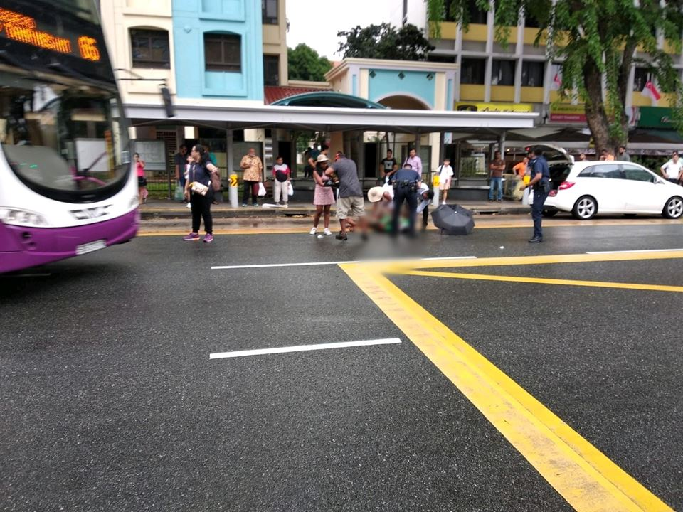 The place at the Serangoon Road in Little India where a 27-year-old man was attacked. Photo courtesy: Facebook page of KP Lau